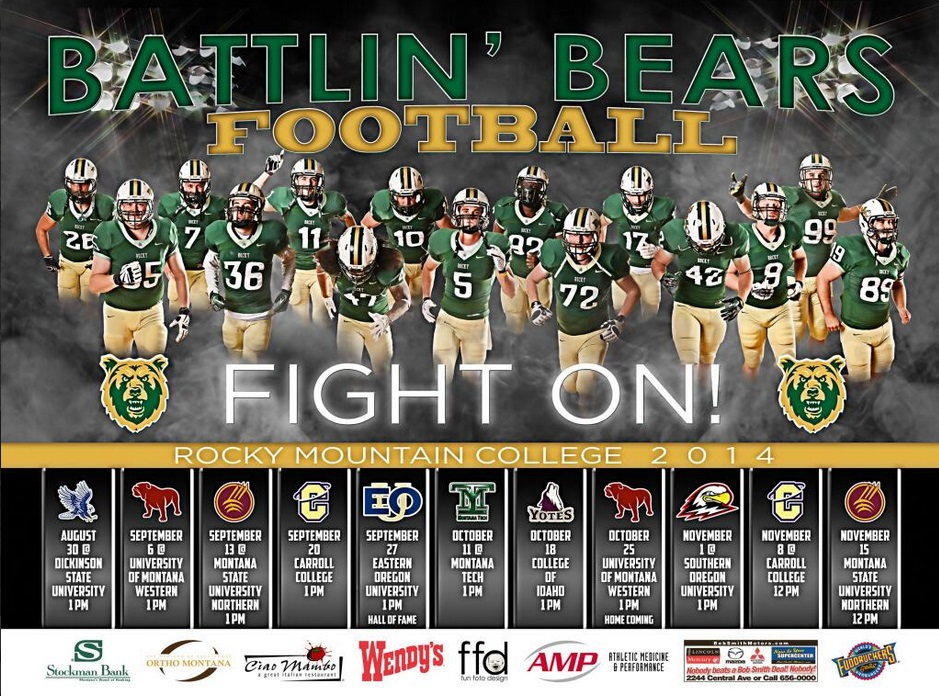 Rocky Mountain College Football Poster Swag