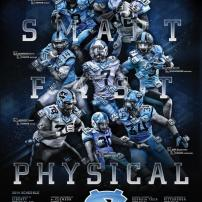 UNC Football Poster
