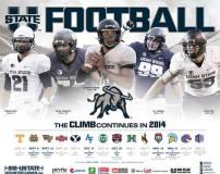 Utah State Football Poster